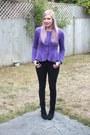 Black-primark-boots-black-jeans-purple-peplum-asos-top