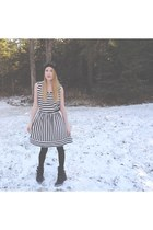 unknown brand boots - Be Bop dress - unknown brand hat - Forever 21 belt