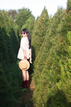 doc martens boots - from japan hat - Jay jay sunglasses - from japan blouse - Ta