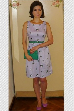 oodji dress - thrifted bag - Deichmann flats