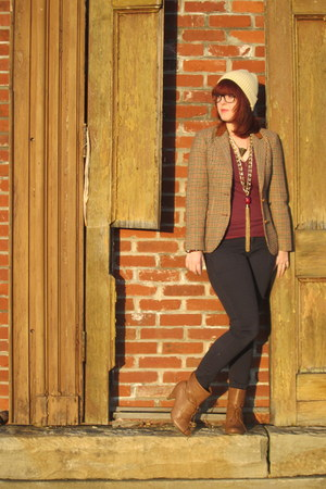 vintage blazer - modcloth brown modcloth boots