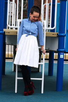 hollister blouse - Joe Fresh dress - GoJane heels