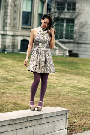 amethyst Urban Outfitters dress - light pink Urban Outfitters heels