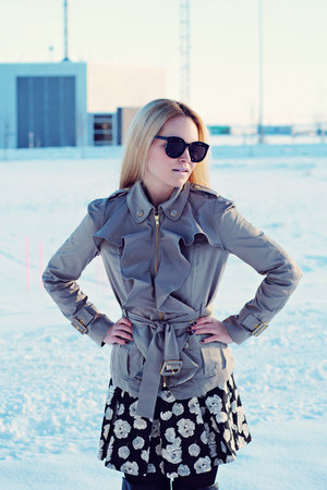 Anthropologie jacket - Karen Walker sunglasses - Forever 21 skirt