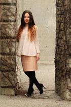 Topshop sweater - Forever 21 heels - GoJane heels