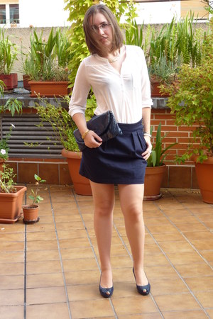 shoes - H&M shirt - Springfield skirt