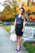 Zara skirt - Urban Outfitters t-shirt - Manolo Blahnik heels