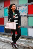 le chateau jacket - H&S Handbags bag - Guess sneakers