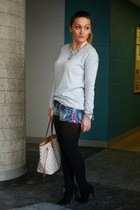 Aldo boots - H&M sweater - Louis Vuitton bag