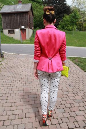 polkadot Nasty Gal jeans - Ebay blazer