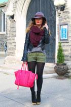 H&M hat - le chateau jacket - H&M sweater - H&M shorts