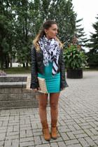 Aldo boots - urban behavior dress - le chateau jacket - Zara scarf