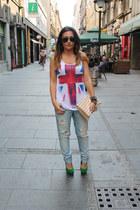 Aldo bracelet - Forever 21 jeans - Ray Ban sunglasses - Michael Kors watch