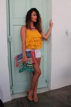 Jessica Simpson blouse - H&M shorts