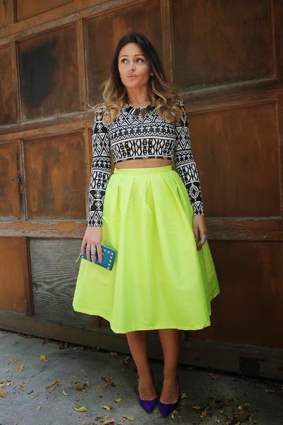Choies skirt - Manolo Blahnik heels - Forever 21 top - Michael Kors wallet