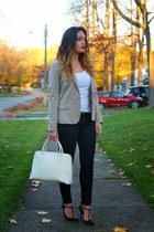 Zara blazer - H&M pants - Gucci heels