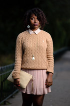 Ralph Lauren sweater - new look skirt - leopard print Forever 21 loafers