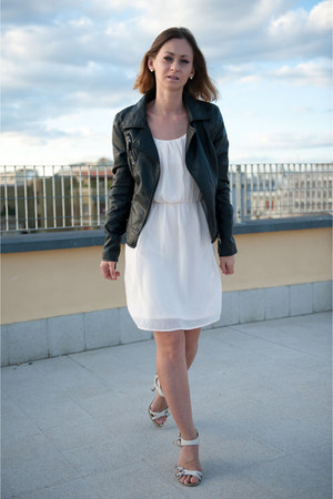 Zara dress - Stradivarius jacket - Bata sandals