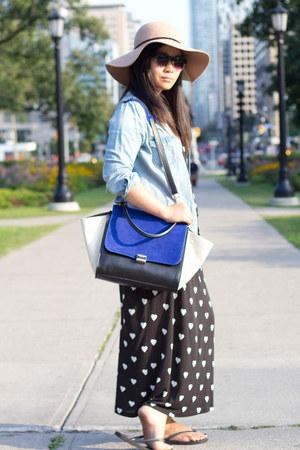 blue Chicwish bag - black Joe Fresh dress - light blue denim H&M shirt
