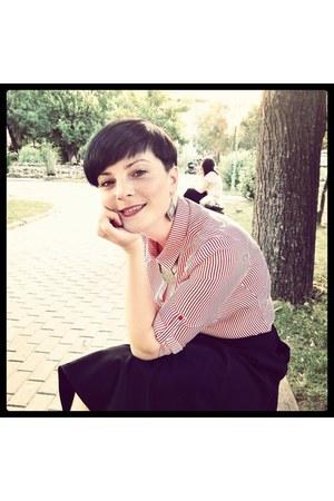 shirt - skirt - earrings
