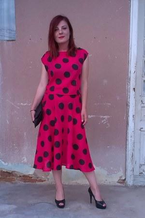vintage dress - vintage blouse