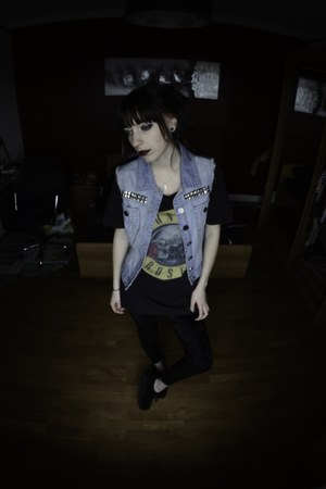 diy denim vintage jacket - creepers Underground London shoes