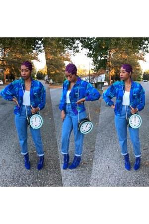 vintage jeans - vintage jacket