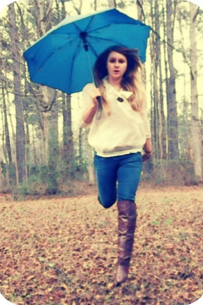 Madden Girl boots - blue jeans Forever21 jeans - Ana top