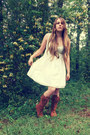 Threadsense-boots-thrifted-dress-forever21-necklace