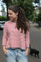 Zara shirt - Only jeans - black strappy Zara heels