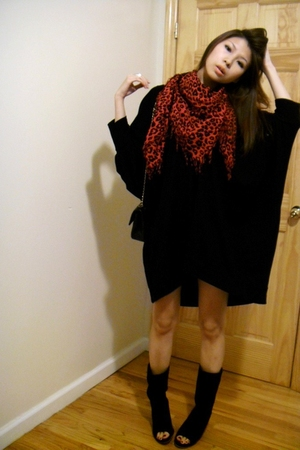 BABOOSHKA dress - Zara scarf - Chanel lambskin 255 purse - Aldo shoes