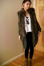 Green-mintpink-jacket-brown-h-m-vest-black-forever-21-necklace-beige-go-ja