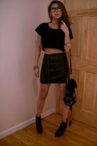SilenceNoise top - SilenceNoise skirt - Topshop accessories - Sam Elderman shoes