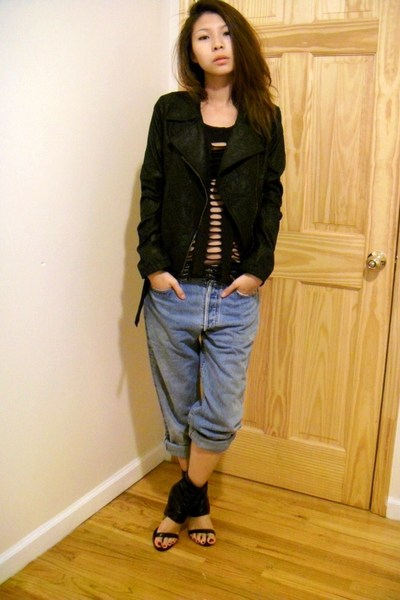 jacket - H&amp;M top - jeans - Luxe shoes