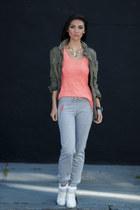 J Crew jacket - Tokyo Bay accessories - pants