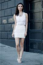 Nasty Gal skirt - Richard Nicoll shirt - Zara sandals - pamela love necklace