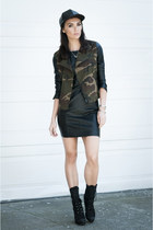black leather Theory dress - black bojana boot Boutique 9 boots