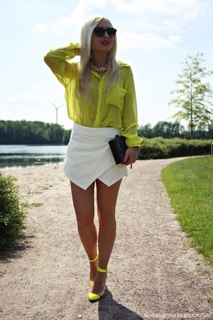 yellow shoes - yellow New Yorker shirt - white shorts