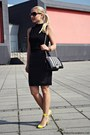 Black-bag-black-h-m-skirt-gold-guess-watch-yellow-heels