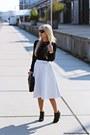 Black-shoes-black-bag-black-sunglasses-white-skirt-black-blouse