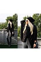 heather gray H&M pants - black H&M sweater - black River Island bag