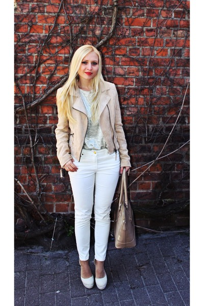 Cream H&m Jacket Cream Shoes