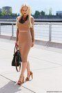 Brown-michael-kors-bag-camel-top-camel-skirt-brown-necklace
