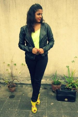 leather Vero Moda jacket - neon Promod top