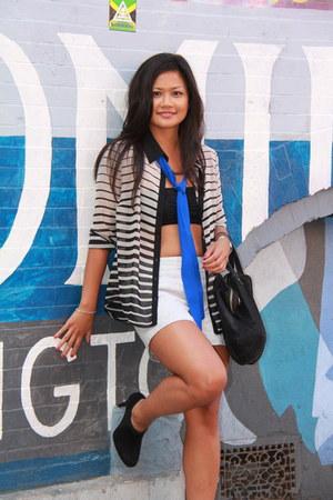 Forever 21 blouse - stuart weitzman boots - Ann Taylor Loft shorts