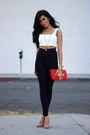 Black-high-waisted-luna-b-pants-white-luna-b-top