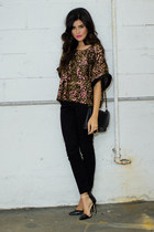 Love top - skinnies H&M pants - snake leather Zara heels
