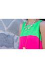 Hot-pink-love-dress-black-forever21-bag-aviators-rayban-sunglasses