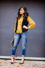 Black-faux-fur-timeless-vest-navy-boyfriend-jeans-gap-jeans
