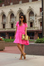 Bubble-gum-french-connection-dress-number-one-karen-walker-sunglasses